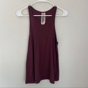 Free People Round Neck Swing Soft Ribbed Tank